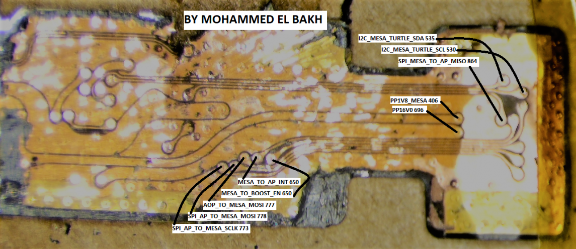 Mohammed El Bakh owner of WikiMobiel. Mapping of the back of the flex using schematic provided by Wyman Lau of G-Lon